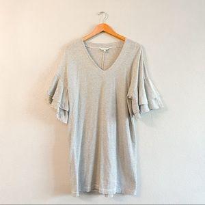 Lucky Brand Ruffle Bell Sleeve T-shirt Dress